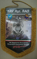 """Gagliardetto Storico Commemorativo """"185° RGT. PAR. RAO FOLGORE"""" (Gattistrello)"""
