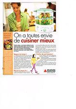 PUBLICITE ADVERTISING  2002   SEB  vitasaveur