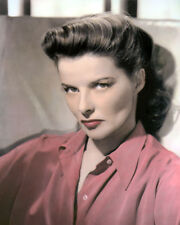 """KATHARINE HEPBURN FILM TELEVISION STAGE ACTRESS 8x10"""" HAND COLOR TINTED PHOTO"""
