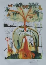 Salvador Dali Limited Edition Art Lithograph ALICE IN WONDERLAND MAD TEA PARTY