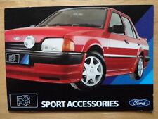 FORD RS Sport Accessories 1986 UK Mkt brochure - Granada Capri Sierra Escort