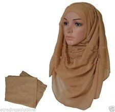 Maxi Shimmer Plain Large Scarf Hijab Sarong Shiny Glitter Wedding Abaya*glttrscf