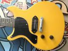 LEFT HANDED ANTORIA Guitar New Yorker Les Paul Junior Yellow With H/D Carry Bag for sale
