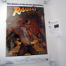 Harrison Ford Signed Autograph FS Indiana Jones Movie Poster Beckett BAS COA