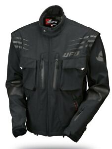 UFO 2021 Tiaga Enduro Jacket  -  Black - Removable sleeves - ALL Sizes