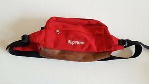 Supreme Red Fanny Pack Waist Bag