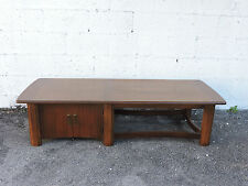 Mid Century Modern Coffee Table with Cabinet  6433