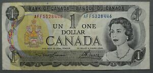 Bank of Canada $1 1973  Canadian Banknote World Paper Money Pick 85