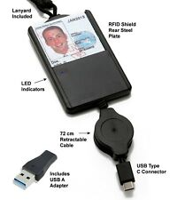 Stanley Global SGT119XM USB CAC Smart Card Reader ID Holder w/ Retractable Cable