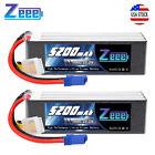 2PCS Zeee 22.2V 100C 5200mAh 6S EC5 LiPo Battery for RC Quad Car Truck FPV Heli