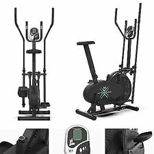 We R Sports 2-in - 1 Elliptical Cross Trainer and Exercise Bike-Black
