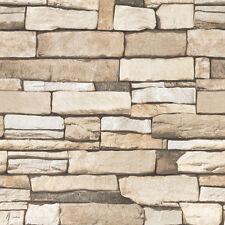 Stone Veneer Effect Self Adhesive Wallpaper Vinyl Peel Stick PVC Walls Covering