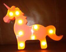 Pink Unicorn  Night Light Battery Operated
