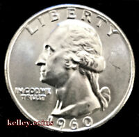 1960-D 25C Washington Silver Quarter BU