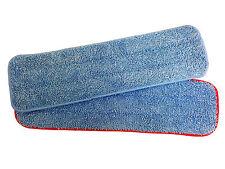 "5 Blue/Red MaximMart Microfiber 18""x5"" 400GSM Mop Pad Wet Dry Mops Refill"