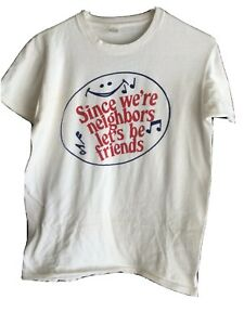 vintage t shirt 70s Safeway Since We're Neighbors Let's Be Friends