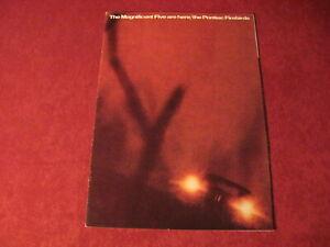 1967 Pontiac Firebird Sales Brochure Original Old Booklet Book Catalog