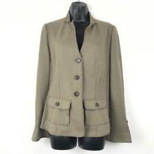 Brunello Cucinelli Tan Cashmere Blazer Sweater Jacket Women's 44