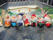 Disney Snow White Seven Dwarfs Christmas Ornaments Fao 1950s Rare Felted