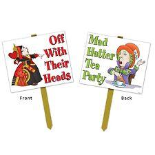 Alice nel paese delle meraviglie Yard Sign-Mad Hatter Tea Party PRATO segni Party Decorazione