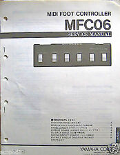 Yamaha MFC06 Midi Foot Controller Pedal Service Manual, Schematics, Parts List