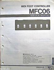 Yamaha MFC06 Midi Foot Controller Pedal Service Manual, Schematics, Parts List