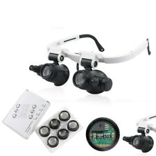 7X 10X 15X 25X Led Light Eyeglass Magnifying Glasses for Lash Extension Stamps