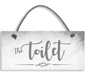 THE TOILET Shabby Chic Door Sign Plaque Sign for Toilet or Bathroom #1501