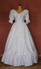 Vintage 80s Wedding Belle Dress Gown Victorian Edwardian Ball Theater Size 4
