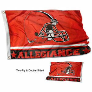 Cleveland Browns Allegiance Two Sided Flag