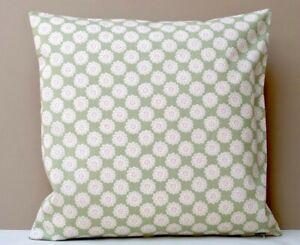 Clarke & Clarke Designer Cushion Cover Daisy Sage Pretty Green & Pink Floral
