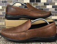 Cole Haan NikeAir Brown Leather Slip On Casual Driving Shoes Loafers Mens 10 M