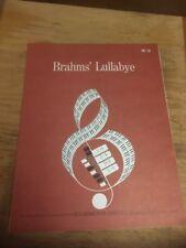 Vtg Sheet Music: Brahms Lullaby for Hammond Organ 1966