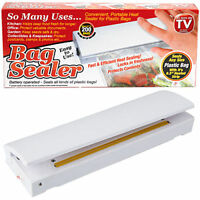 BATTERY OPERATED HEAT BAG SEALER KITCHEN CATERING FRESH PROTECT KEEP FOOD SECURE
