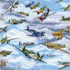 Fat Quarter Warbirds WWII Planes 100 Cotton Quilting Fabric Fighters Spitfire
