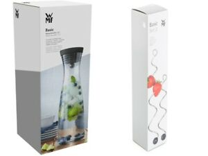 WMF Basic Wasserkaraffe 1,5 Liter Glaskaraffe mit Deckel + Fruchtspieße 2-teilig