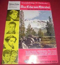 zeitschrift film echo nr 71 erbe v björndal , ewig singen die wälder heft 1960
