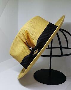Mens Classic Viejo snap brim khaki  hat fedora Derby