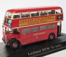 AUTOBUS LEYLAND RTW 75 1957 (UK) DOPPELDECKER - ATLAS BUS COLLECTION IXO - 1:72