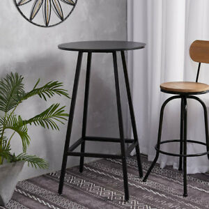 Tall Bar Table Wood Desktop Kitchen Breakfast Cafe Bistro Small Pub Table Dining