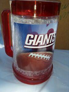 NEW NEW YORK GIANTS 16oz Crystal Freezer Mug, rare design,NFL shelf71