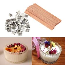 40Pcs Wooden Wick Wax Candle Core Sustainers Handmade Diy Craft Making Gift