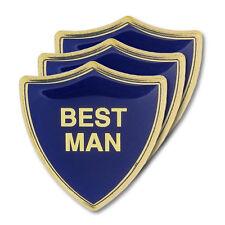 Best Man Blue Wedding Shield Badge