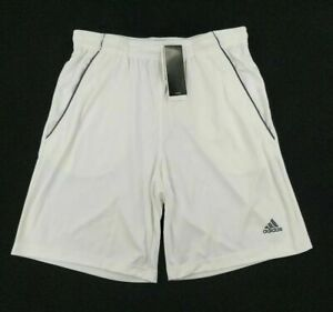 Adidas Mens Climalite Bermuda Shorts White With Pockets Size Small