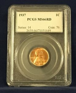 1937 Lincoln Wheat Cent MS 66