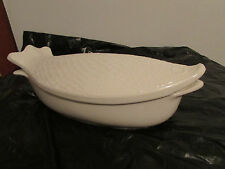vintage fish dish casserole ,environmental ceramics 1966