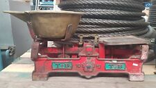 T.B Timbul Antique Balence Scales 10Kg Brass Pot Cast Iron