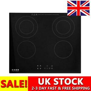 Electric Ceramic Hob Touch Control 4 Zone Satin Glass Kitchen Cooker Low Energy
