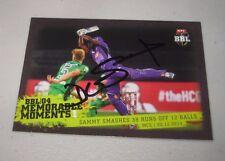 Darren Sammy (West Indies) signed Hobart Hurricanes BBL Card + COA