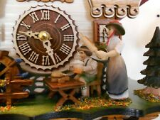 New Original Black Forest Cuckoo Clock, & Music+Moving Watermil+Housewife Hand!